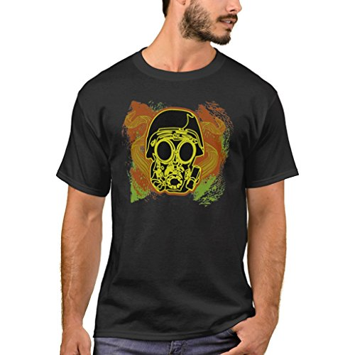 Zazzle Men's Basic T-Shirt, Gas Mask Fun T-Shirt, Black XL (Mask C4 Gas)
