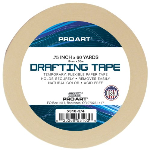 PRO ART 3/4-Inch by 60-Yards Drafting Tape