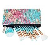 Mermaid Makeup Brushes Sets, NIZIYI 11PCS Mermaid Makeup Cosmetic Brush Set Soft Nylon Bristles Beauty Brushes Kit Foundation Powder Cream Eyebrow Eyeliner Blush Cosmetic Concealer Brush with Bag