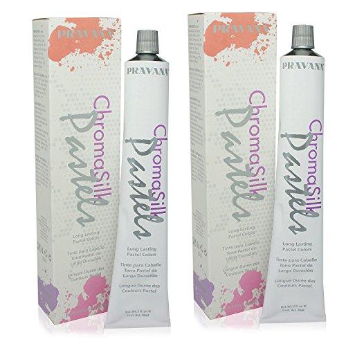 Pravana ChromaSilk Pastels (Too Cute Coral), 3 Fl 0z - 2 Pack by Pravana