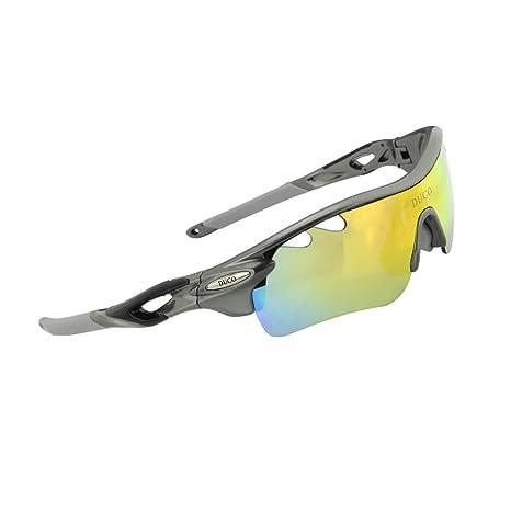 b7b186add0 DUCO 0025 - Gafas de sol deportivas, polarizadas, con 5 lentes  intercambiables. Protección