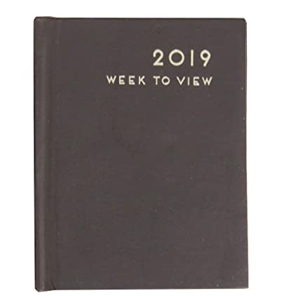Amazon.com : 2019 Hard Cover Faux Leather Pocket Diary ...