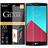 Sukix Lg G4 Screen Protector - Lg G4 Tempered Glass - High Definition - Ultra Clear