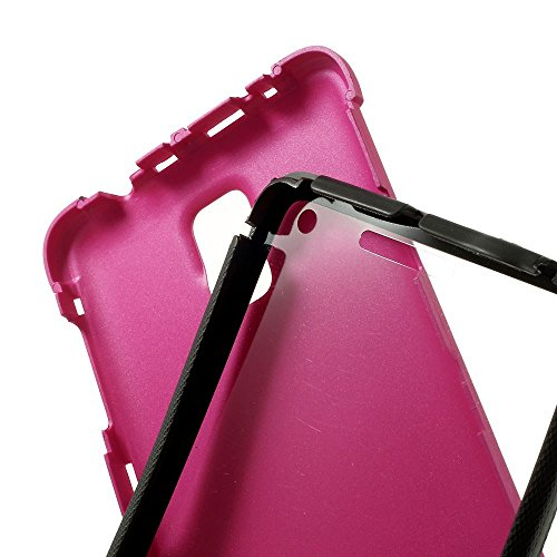 JUJEO Plastic Back & TPU Edge Cover for Samsung Galaxy Note 4 N910 with Screen Protector - Rose - Skin - Non-Retail Packaging - Pink