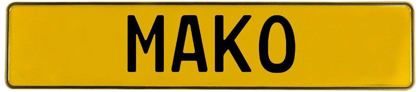 Mako Yellow Stamped Aluminum Street Sign Mancave Vintage Parts 719974 Wall Art