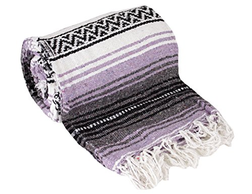 Authentic Mexican Yoga Falsa Blanket (Light Purple)