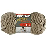 Bernat Softee Chunky Yarn, Clay, Single Ball