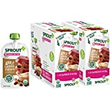 Sprout Organic Stage 2 Baby Food Pouches, Apple Oatmeal Raisin w/ Cinnamon, 4 Ounce (Pack of 10)