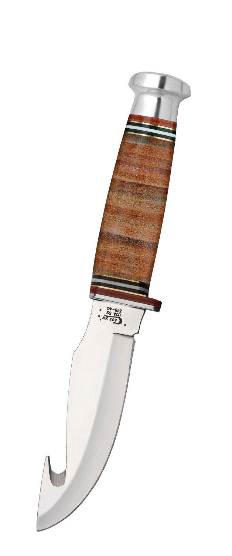 Case Gut Hook Mushroom Cap Leather Hunter Knife by Case (Image #1)