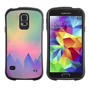 "Hypernova Slim Fit Dual Barniz Protector Caso Case Funda Para Samsung Galaxy S5 [Sun trullo púrpura Paisaje Rosa""]"