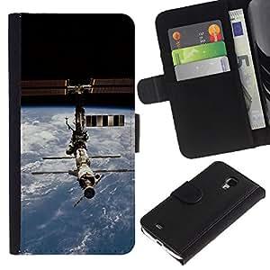 Ihec-Tech / Flip PU Cuero Cover Case para Samsung Galaxy S4 Mini i9190 MINI VERSION! - Iss Space Station