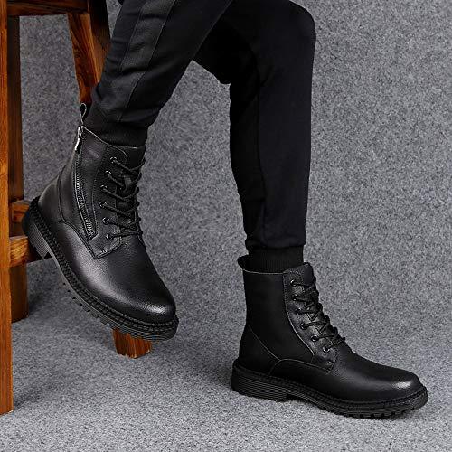 Stivali Stivali in Vera Pelle Nero in Scarpe Tlgf Impermeabile Pelle Pelle Pelle Scarpe Suole con Boots Uomo in Pelle Casual dUREnq