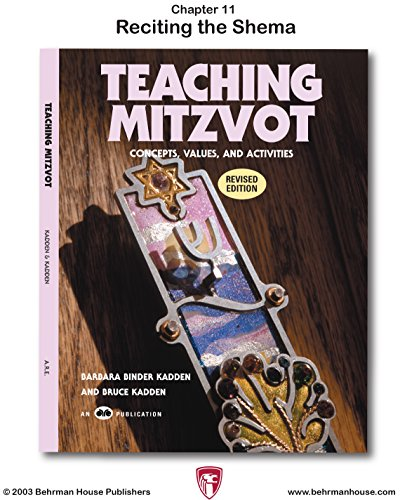 Teaching Mitzvot: Reciting the