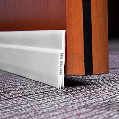 """Weather Stripping for Door Draft Stopper Energy Efficient Saver Door Weather Stripping Door Sweep Under Seal Soundproof and Noise Stopper 3 Layer (White 2"""" Width X 36"""" Length)"""