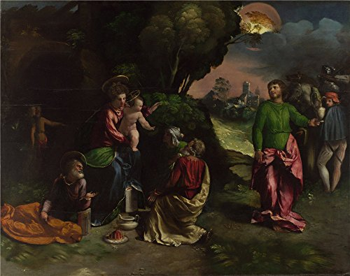 Oil Painting 'Dosso Dossi - The Adoration Of The Kings,probably 1530-42' 12 x 15 inch / 30 x 39 cm , on High Definition HD canvas prints is for Gifts - Whitfords Shopping Centre