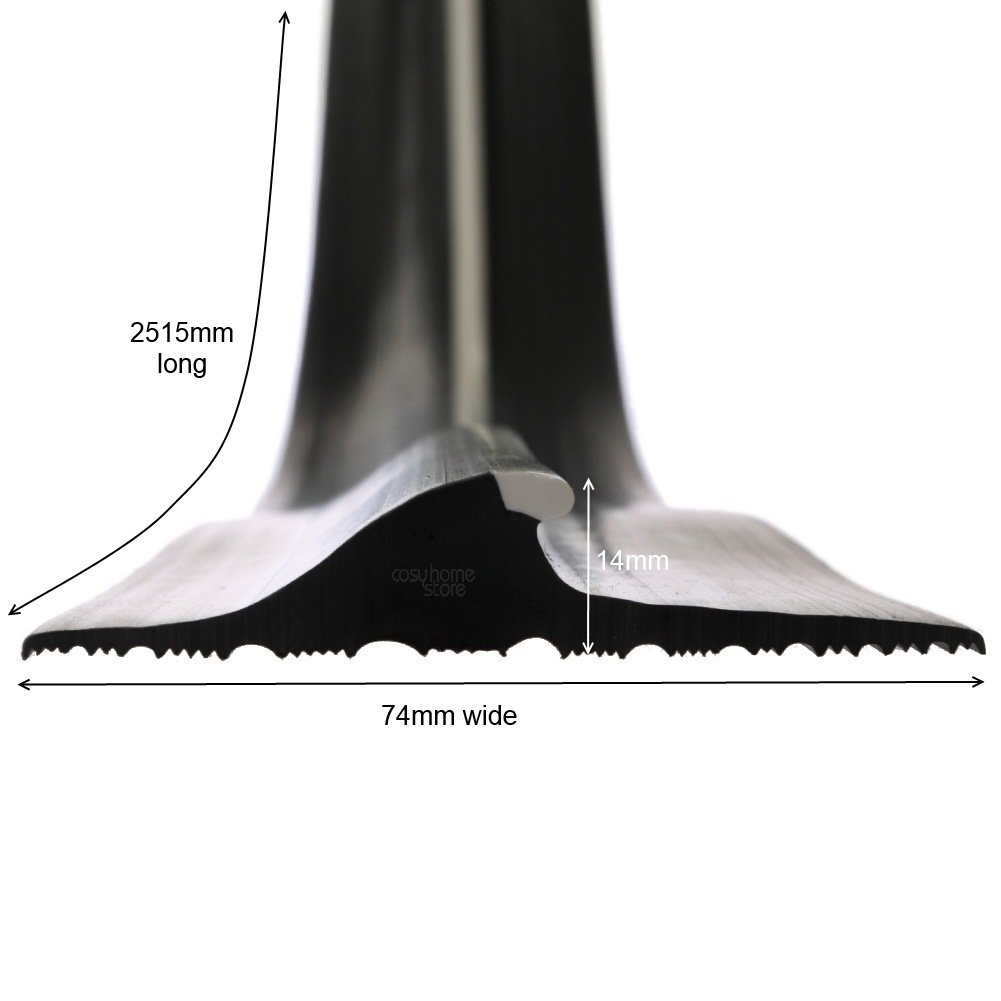 Stormguard 04sr5072515bl 2515mm Garage Floor Threshold Seal Black