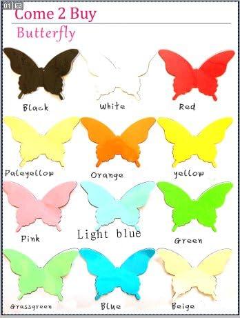 Luxbon 100p 3D Efecto de Mariposas Multicolor Navidad DIY ...