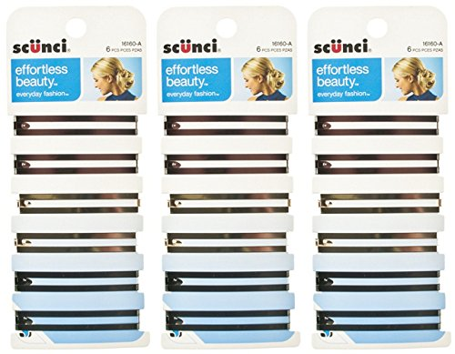Scunci Effortless Beauty Open Center Stay Tight Barrettes, 18-Count