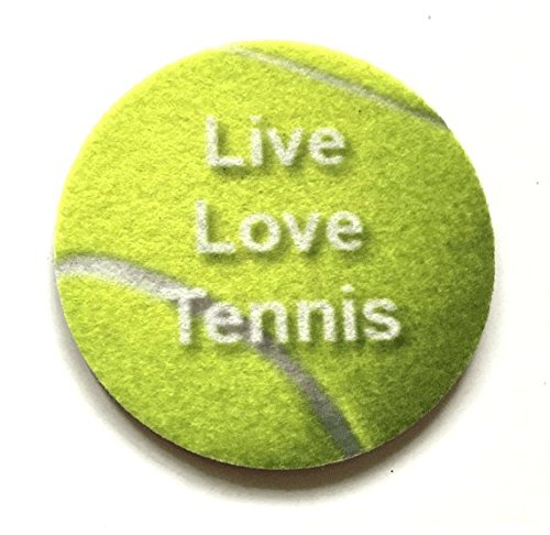 (Car Cup Holder Coasters - Absorbent Car Coasters - Live Love Tennis - 2 Pack)