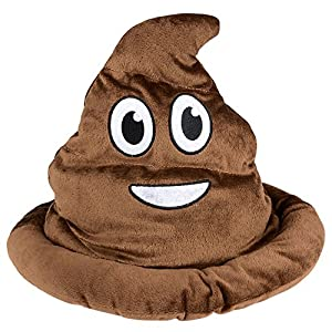 Emoji Soft Plush Poop Emotion Hat Party Favor. Size Fits Adults And Kids - By Bedwina