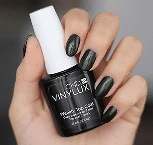 1 Pcs Dazzling Popular Nail Polish Lacquers Vinylux Final Layer Long-Lasting DIY Tips Uniquely Designed Weekly Top Coat Volume 0.5 oz/15ml (Tip Top Weekly)
