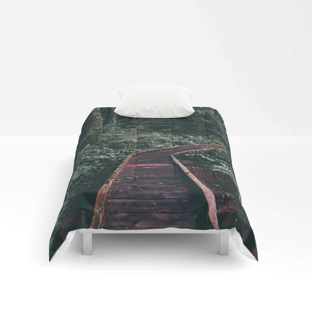 Society6 Comforter, Size Twin XL: 68'' x 92'', Path in The Woods by lindseyjennings