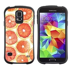"Pulsar iFace Series Tpu silicona Carcasa Funda Case para Samsung Galaxy S5 , Naranja Pomelo patrón de la fruta"""