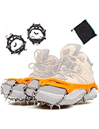 Ice Cleats Winter Spikes Shoes Chains Traction Hiking Treads Spikes Fixture Anti-Skid Tread for Snow