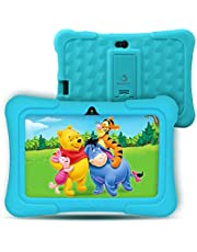 """Dragon Touch Kids Tablet, Y88X Pro Android 9.0 OS 7"""" IPS Display 2GB Ram 16GB ROM Kidoz & Google Play Pre-Installed with Kid-Proof Casel - Blue"""