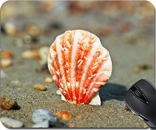 MSD Natural Rubber Mousepad Mouse Pads/Mat design: 30911422 Beautiful shell on the sand at the - Gap Free 2 Day Shipping