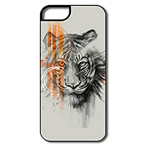 PTCY IPhone 5/5s Custom Funny Striped Tiger
