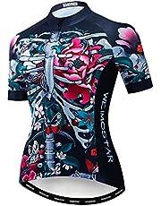 Women's Cycling Jersey Short Sleeve MTB Bike Shirt Top Ladies Bicycle Clothing for Women