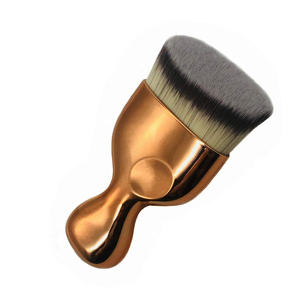 Angled Flat Foundation Brush High Density Face Body Kabuki Makeup Brush for Liquid Foundation Powder Cream Contour Buffing Stippling Blending: Beauty