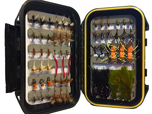 lar Flies Mini-Mega Assortment, 60 Flies with Small Fly Box ()