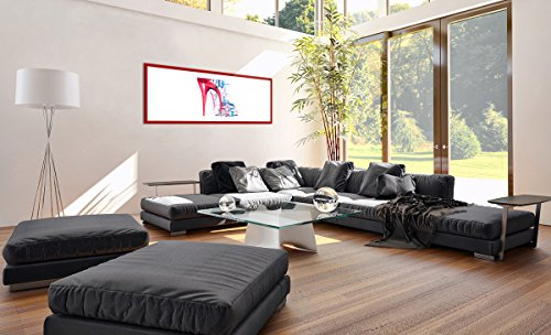 Image F1rab100x40 Prete Couleur 3061 Bois Pour 100x40cm Rouge Un Cadre Mur Peinture Tableaux En Sur Suspendre Le 3061 La Toile A Arttor Dans Impression xnwOZg4