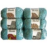 Bernat Blanket Yarn, 5.3oz, 6-Pack (Light Teal)