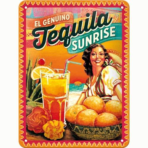 Nostalgic-Art Cartel de Chapa 15x20 -C ocktail-Time - Tequila Sunrise