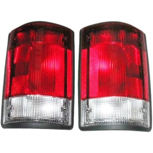 1995-2007 Ford E150 E250 E350 Econoline Van & 2000-2005 Excursion Taillight Taillamp Rear Brake Tail Light Lamp Pair Set Right Passenger AND Left Driver Side (1995 95 1996 96 1997 97 1998 98 1999 99 2000 00 2001 01 2002 02 2003 03 2004 04 2005 05 2006 06 2007 07)