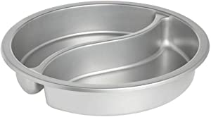 Stainless Steel Round Divided Food Pan, 15 2/5Dia x 2 1/2