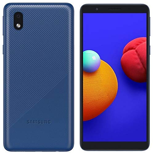 Samsung Galaxy A01 Core (16GB) 5.3″, 3000mAh Battery, Android 10, Dual SIM GSM Unlocked Global 4G LTE (T-Mobile, AT&T, Metro, Straight Talk) International Model A013M/DS (64GB SD Bundle, Blue)