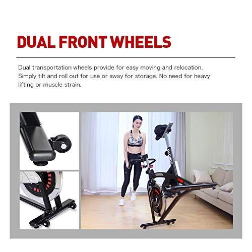 JOROTO Magnetic Resistance Exercise Bike Stationary Belt Drive Indoor Cycling Bikes Trainer Workout Cycle for Home 7