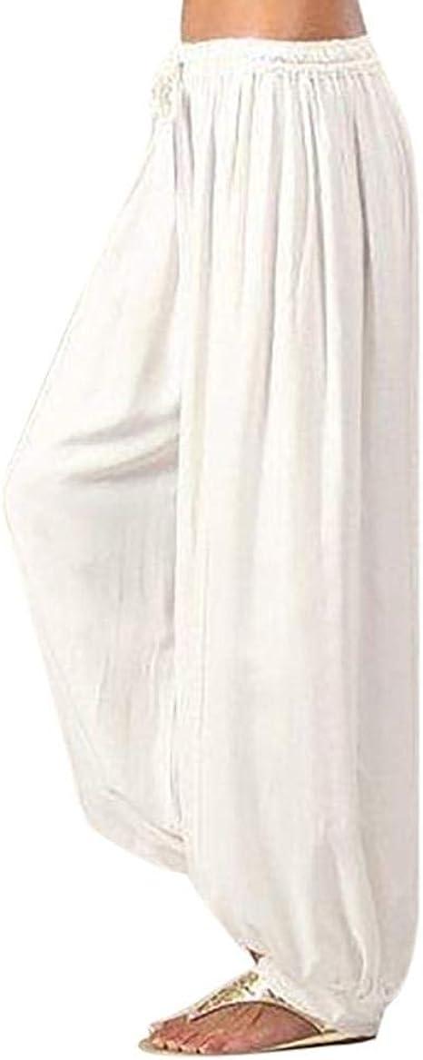 Cayuan Donne 3//4 Lunghezza Pantaloni Harem Sciolto Pantaloni a Sbuffo Yoga Pilates Casuale Pantalone Estivi