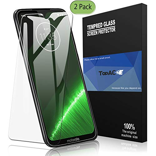 Moto G7 Screen Protector, TopACE Moto G7 Tempered Glass 9H Hardness [Case Friendly][Anti-Scratch][Bubble Free] Compatible for Motorola Moto G7 (Clear)