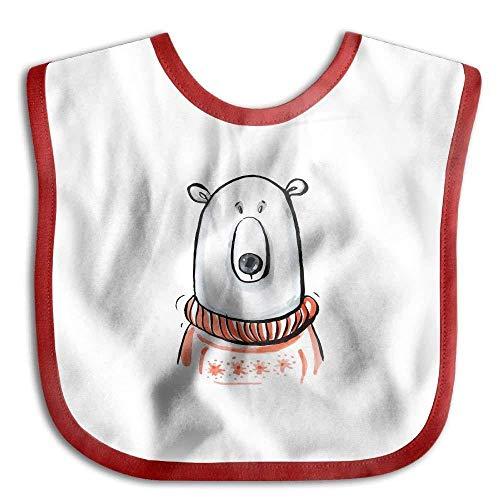 Cute Orange Polar Bear Doodle Art Baby's Cotton Saliva Towel Toddler Drool Bibs ()