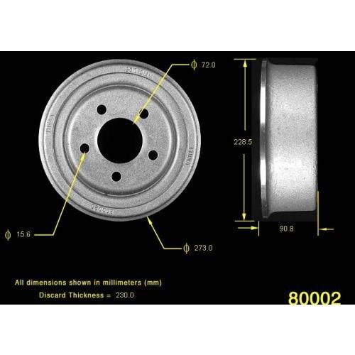 Brake Drum Cast (ProStop Brake Drum (80002G))