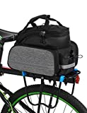 lixada 10L Bike Rack Bag Waterproof Cycling Bike Rear Seat Cargo Bag Bike Trunk Pack Shoulder Carry Bag with Taillight