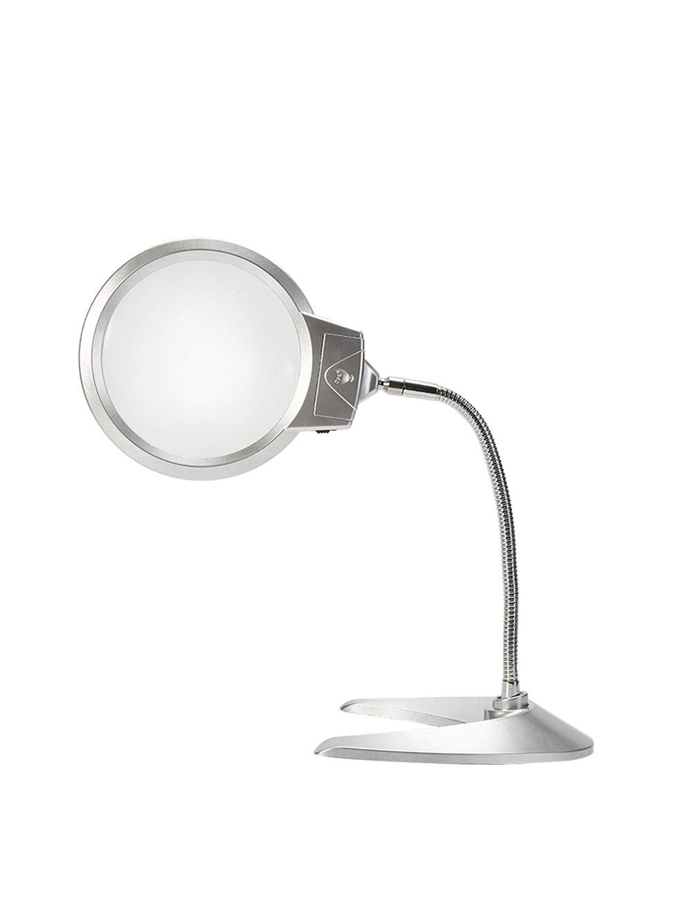 GZRR Magnifier LED Desktop Magnifier Reading Magnifier Multifunction Magnifier 5X 10x, Ultra HD, for Inspection and Maintenance, Elderly Reading, Electronic Lighting, Hand Sewing Upgraded Version