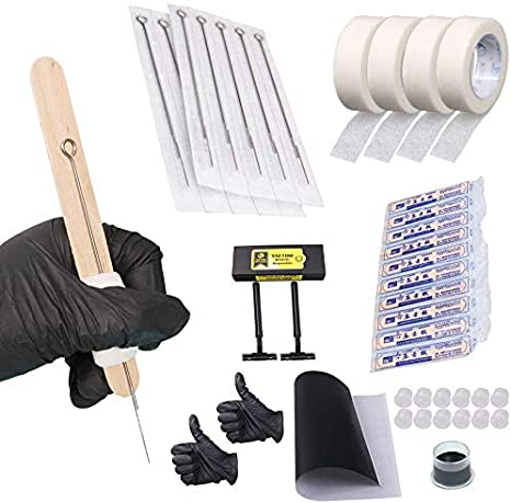 Hand Poke and Stick Tattoo Kit - Clean & Safe Stick & Poke Tattoos: Amazon.es: Belleza