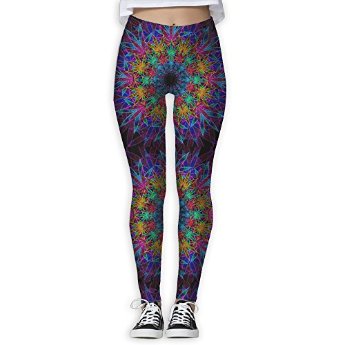 Cannabis Leaf Bohemia Women's Girl High Waist Yoga Pants Stretchy Pilates Workout Sport Fitness Leggings