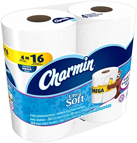 Charmin Ultra Soft Toilet Paper, Bath Tissue, Mega Roll, 24 Count, 4 Count (Pack of 6)